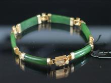 Chinese Green Jade Bracelet