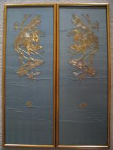 Pair of Antique Chinese Silk Work