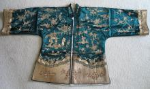 Old Chinese Silk Lady's Jacket, Qing Dynasty.