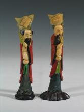 Two Chinese Carved Bone Figures