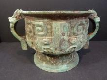 ANTIQUE CHINESE BRONZE GUI - SHANG DYNASTY