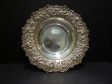 IMPORTANT S KIRK & SON STERLING SILVER BOWL - ROSE PATTERN