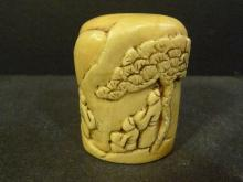 ANTIQUE CHINESE CARVED SOAPSTONE SEAL - 19TH CENTURY
