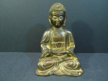 ANTIQUE CHINESE GILT BRONZE BUDDHA - MING DYNASTY