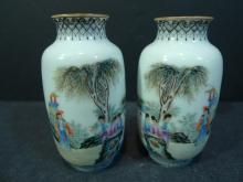 PAIR OF ANTIQUE CHINESE FAMILLE ROSE PORCELAIN VASE REPUBLIC PERIOD