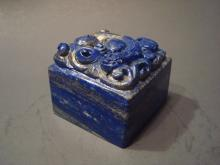 Antique Chinese Lapiz Lazuli Stamp with Dragon, 19th C. 2 1/2