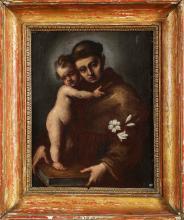 ARTISTA LOMBARDO DEL XVII SECOLO  Saint Anthony with the Child.