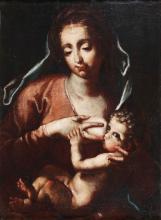 ARTISTA GENOVESE DEL XVII SECOLO  Madonna and Child.