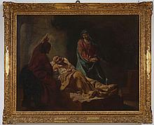 PIAZZETTA GIOVANNI BATTISTA (1682 - 1754) Follower of, The Transitus of Saint Joseph.