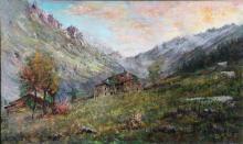 GHEDUZZI GIUSEPPE (1889 - 1957) Mountain landscape.