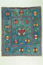 Arte Islamica A Suzani silk fabric Central Asia, late 19th century