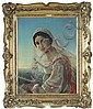 Bella figura femminile con abito caratteristico toscano.