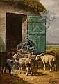 Pecore che entrano nell'ovile.