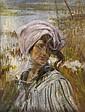 ETTORE TITO (1859-1941) Fanciulla con panno bianco