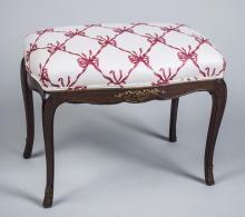 Louis XV Style Mahogany Bench