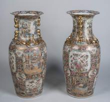 Pair of Chinese Porcelain Palace Vases