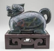 Carved Hardstone Figure of a Dragon