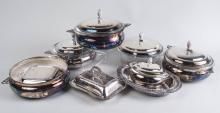 Eight Silver Plated Covered Entree Dishes