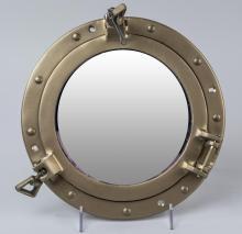 Brass Ship's Port Hole Mirror