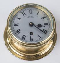 English Brass Ship's Clock