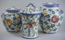 Three Italian Pottery Jars