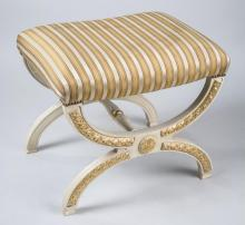 Parcel Gilt and Painted Bench