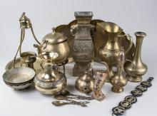 Group of Brass Table Decorations