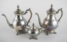 Silver Plated Coffee & Tea Service & Trivets