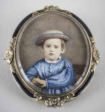 Memorial Portrait Brooch