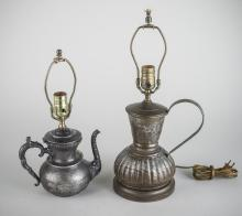 Two Teapot Lamps