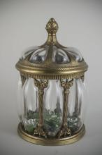 Brass and Glass Jar