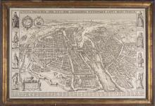 Reproduction Antique Map of Paris