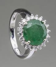 Emerald and Diamond Ring   *