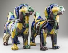 Pair of Ceramic Dog Figures