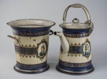 Tole Pitcher and Basin