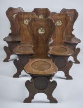 Set of Six Hall Chairs