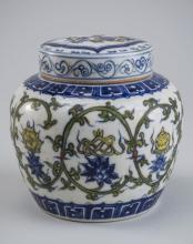Chinese Porcelain Doucai Covered Jar