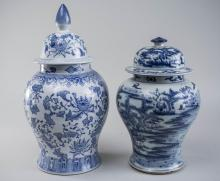 Two Chinese Porcelain Covered Jars