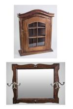 Vitrine Cabinet and Wall Mirror