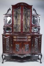 Rococo Style Vitrine Cabinet