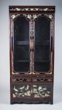 Asian Style Lacquered Vitrine