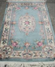 Chinese Ninety Line Carved Rug