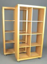 Pair of Blond Wood Open Shelves   *
