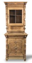 Two Part Carved Hutch