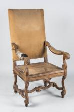 Louis XIV Style Caned Seat Chair