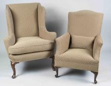 Wing Chair and Library Chair
