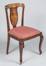 Dutch Marquetry Side Chair
