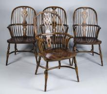 Four Windsor Chairs