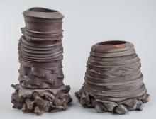 Two Contemporary Japanese Ceramic Vessels