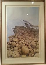 Abstract with River Rocks